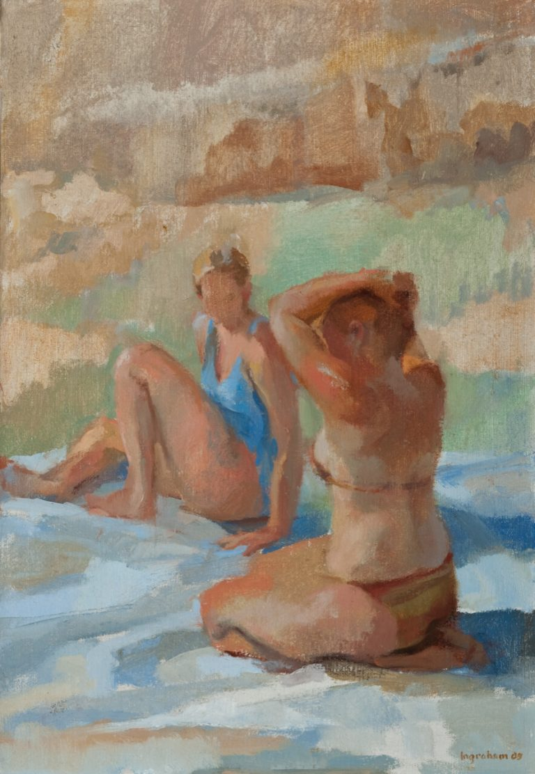 """Dune Bathers, """"A Summer in Maine III"""" Exhibit at Kismet Foundation, Cousins Island"""